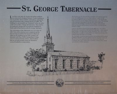 St. George Tabernacle Marker image. Click for full size.