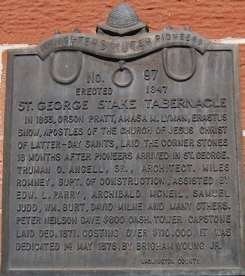 St. George Stake Tabernacle Marker Photo, Click for full size