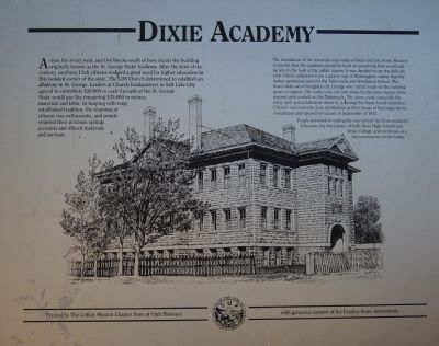 Dixie Academy Marker image. Click for full size.