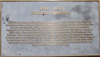 Southern Expedition, 1849-1850 Marker Photo, Click for full size