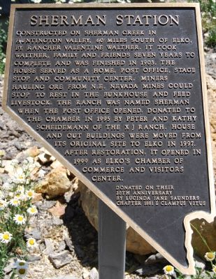 Sherman Station Marker image. Click for full size.