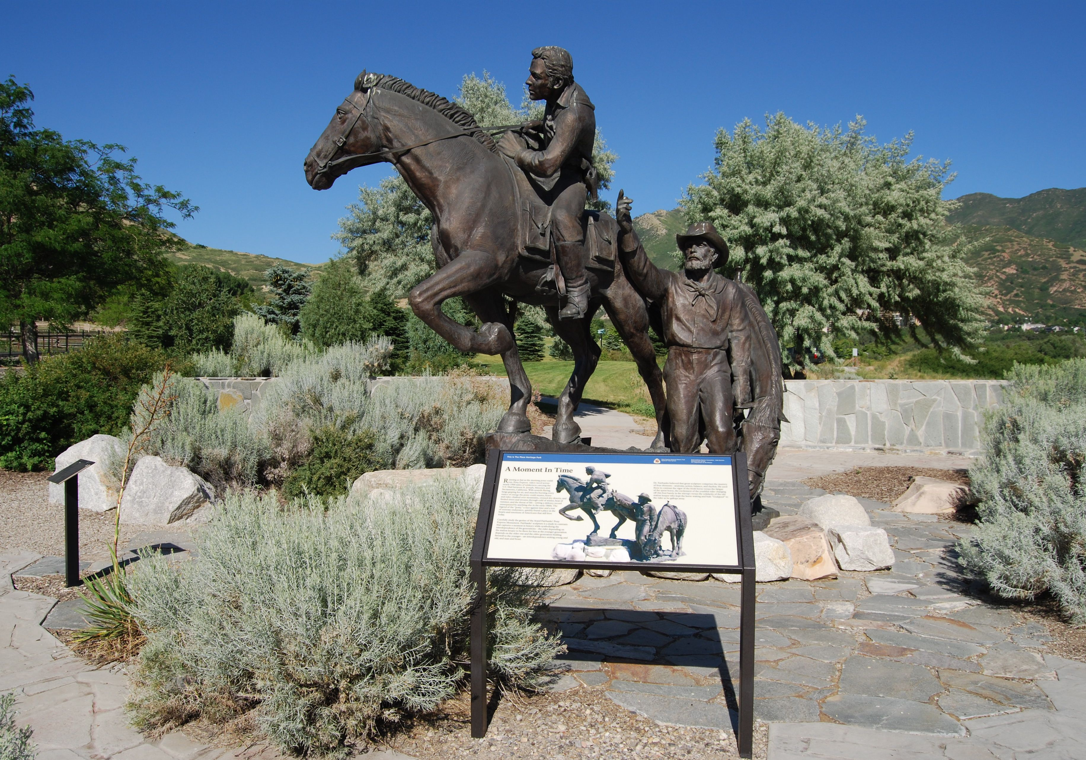 National Pony Express Monument and Marker