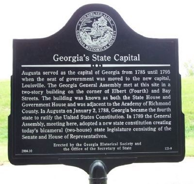 Georgia's State Capital Marker Photo, Click for full size