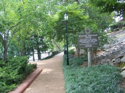William Bartram Trail Marker, traveling east on the Riverwalk image. Click for full size.