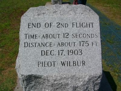 End of 2nd Flight Marker image. Click for full size.
