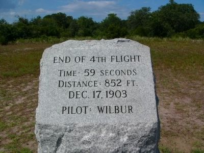 End of 4th Flight Marker image. Click for full size.