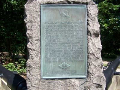 Battle of Cooch's Bridge Plaque Photo, Click for full size