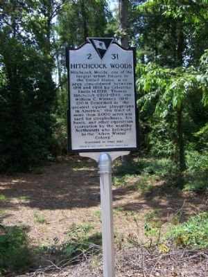 Hitchcock Woods Marker ( Front) image. Click for full size.