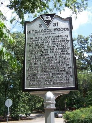 Hitchcock Woods Marker ( Reverse) image. Click for full size.