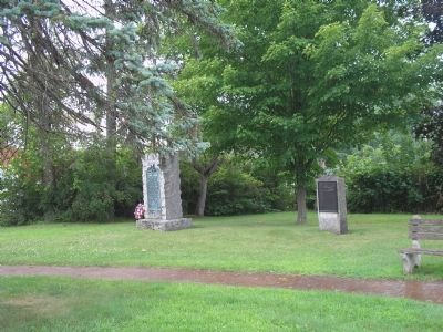 Knox Trail Marker in Schuylerville image. Click for full size.