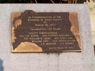 Aiken County 125th Anniversary Marker image. Click for full size.