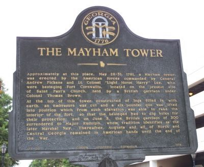 The Mayham Tower Marker image. Click for full size.