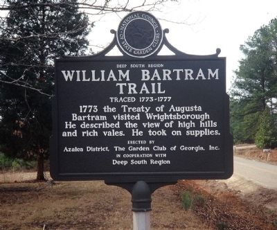 William Bartram Trail Marker image. Click for full size.