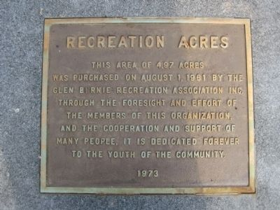 Recreation Acres Marker image. Click for full size.