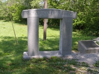 Switzer Covered Bridge Memorial Marker Photo, Click for full size