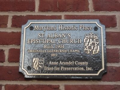 St. Alban's Episcopal Church Marker Photo, Click for full size