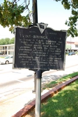 Evins-Bivings House Marker image. Click for full size.