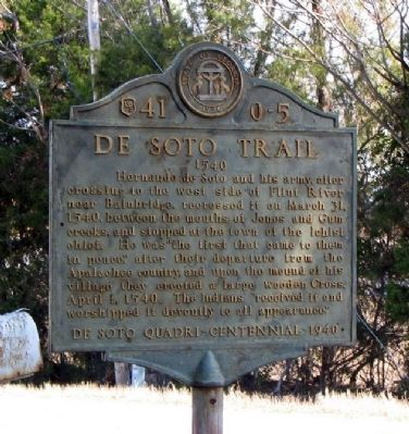 De Soto Trail Marker Photo, Click for full size