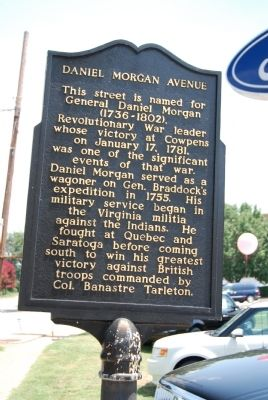 Daniel Morgan Avenue Marker image. Click for full size.