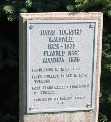 Davis Township - Maysville Marker image. Click for full size.