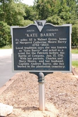 """Kate Barry"" Historical Marker"