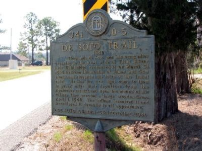 De Soto Trail Marker; Photo, Click for full size