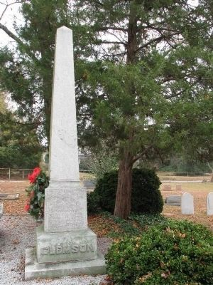 Thomas Green Clemson Monument Photo, Click for full size