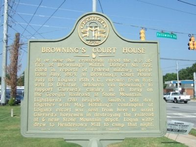 Browning's Courthouse Marker image. Click for full size.