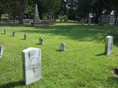 Unknown Confederate Dead Grave Markers Photo, Click for full size