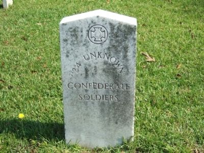Unknown Confederate Dead Grave Marker Photo, Click for full size