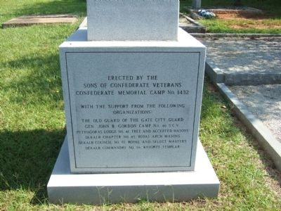 Detail of Obelisk for Unknown Confederate Dead Photo, Click for full size