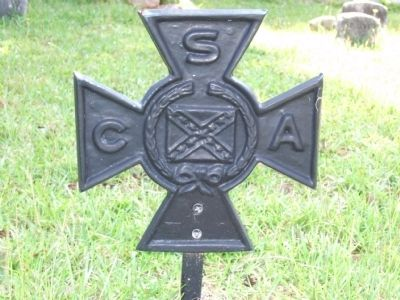 CSA Soldier Marker Rear view Photo, Click for full size