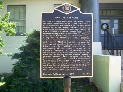 New Century Club Marker image. Click for full size.