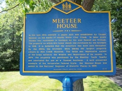 Meeteer House Marker image. Click for full size.
