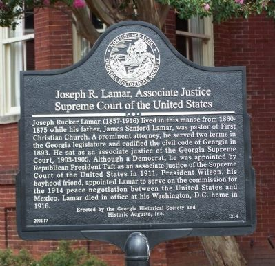 Joseph R. Lamar, Associate Justice Marker image. Click for full size.