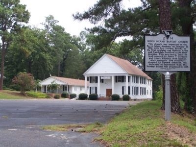 Beech Island Baptist Church and Marker image. Click for full size.
