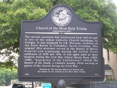 Church Of The Most Holy Trinity Marker image. Click for full size.