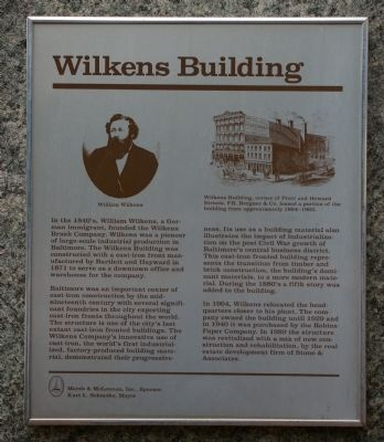 Wilkens Building Marker image. Click for full size.