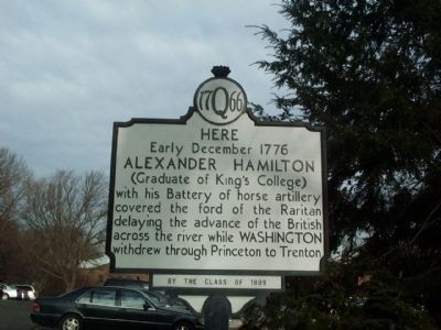 Alexander Hamilton Horse Artillery Battery Marker Photo, Click for full size