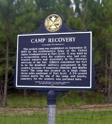 Camp Recovery Marker image. Click for full size.