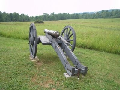 Artillery at Barber Wheat Field image. Click for full size.