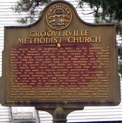 Grooverville Methodist Church Marker Photo, Click for full size