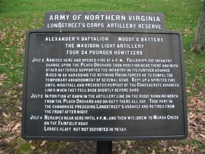 Madison Light Artillery Tablet image. Click for full size.