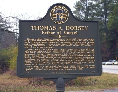 Thomas A. Dorsey Marker image. Click for full size.