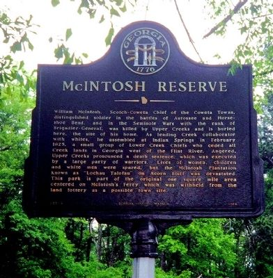 McIntosh Reserve Marker image. Click for full size.