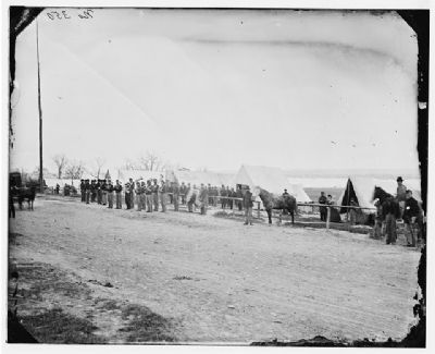 Band at Camp Stoneman image. Click for full size.