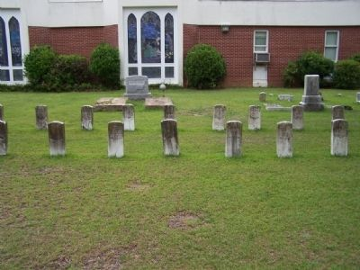 Aiken First Baptist Church Cemetery, as mentioned, several Union Soldiers graves image. Click for full size.