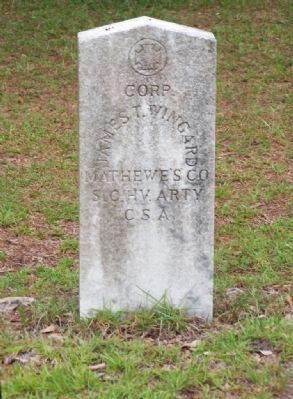 Corp. James T. Wingard Mathewe's Co. S.C. HV. Arty C.S.A. image. Click for full size.