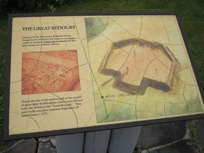 The Great Redoubt Marker image. Click for full size.