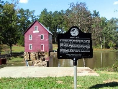 Starr's Mill and Marker image. Click for full size.